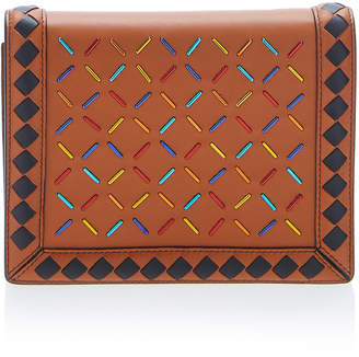 Bottega Veneta Chain Strap Multicolor Leather Wallet