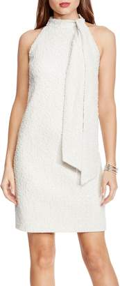 Vince Camuto Boucle Bow-neck Dress