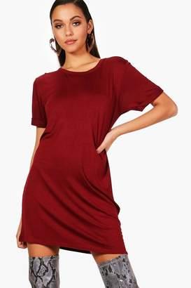 boohoo Turn Back Sleeve TShirt Dress