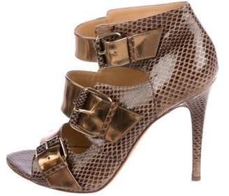 Devi Kroell Embossed Leather Sandals