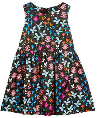 Milly Minis Natalia Jacquard Floral Sleeveless Dress, Size 4-7