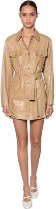 Drome LEATHER JACKET DRESS