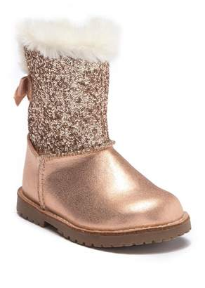 Harper Canyon Lil Aurora Faux Fur Glitter Boot (Toddler & Little Kid)