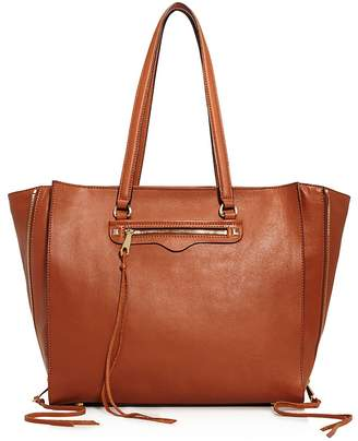 Rebecca Minkoff Regan Always On Side Zip Leather Tote $295 thestylecure.com