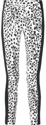 Haider Ackermann Leopard-print Wool And Leather Slim-leg Pants - White