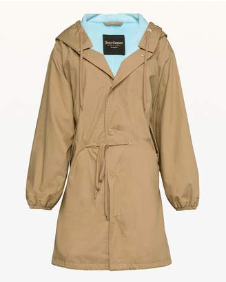 Juicy Couture Microterry Lined Parachute Parka
