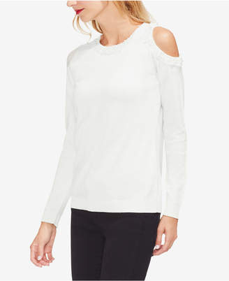 Vince Camuto Cold-Shoulder Embellished Top