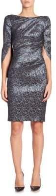 Talbot Runhof Konica Jacquard Sheath Dress