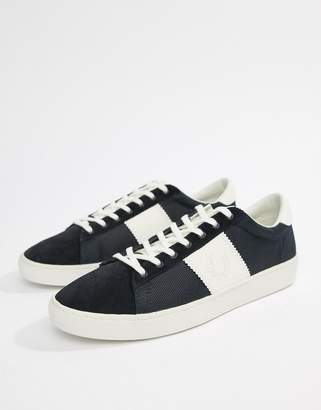 Fred Perry Spencer nylon contrast sneakers in navy