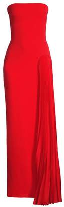 SOLACE London Dolly Strapless Side Pleated Gown
