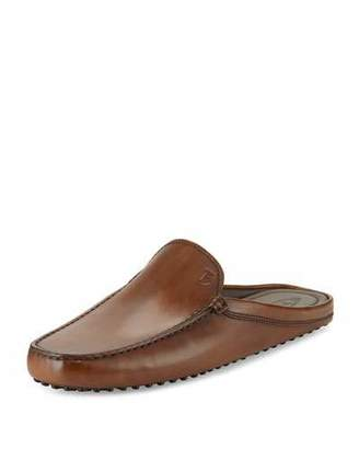 Tod's Gommini Benson Burnished-Leather Slipper, Brown $495 thestylecure.com