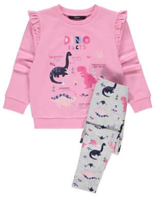 George Pink Dinosaur Sweatshirt and Leggings Outfit