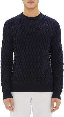 Theory Marcos Honeycomb Merino Wool Sweater