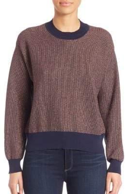 Tanya Taylor Metallic Palm Sweater