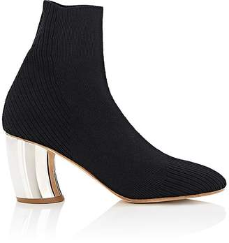 Proenza Schouler Women's Curved-Heel Knit Ankle Boots