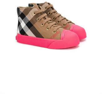 Burberry classic check sneakers