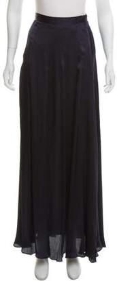 L'Agence Silk Maxi Skirt