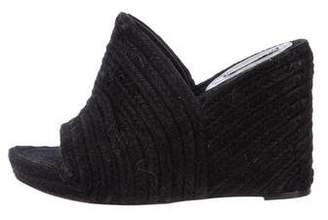 Balenciaga Espadrille Slide Wedges