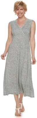 Croft & Barrow Petite Printed Surplice Dress