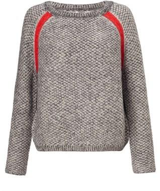 Folk Charcoal Wool Slouch Jumper