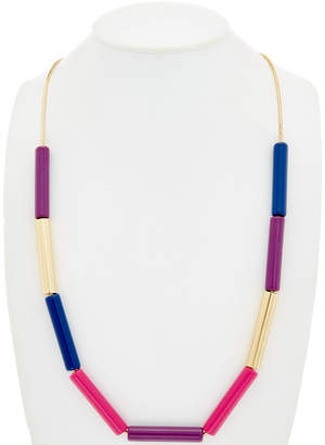 Trina Turk Retro Mod 14K Plated Resin Frontal 36In Necklace