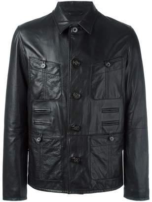 Lanvin grained effect leather jacket