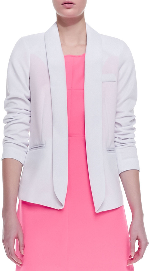 Milly Open-Front Knit Blazer