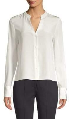 Diane von Furstenberg Long Sleeve V-Neck Shirt