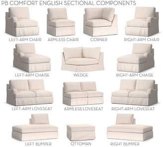 Pottery Barn Build Your Own, Box Edge - PB English Arm Slipcovered Sectional Components