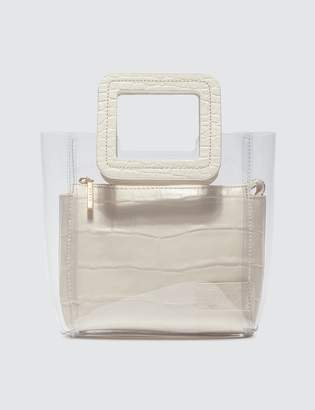 STAUD Croc Embossed Calf Mini Shirley Bag