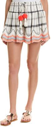 HEMANT AND NANDITA Smocked Mini Skirt