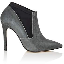 Barneys New York WOMEN'S SUEDE ANKLE BOOTS - DARK GRAY SIZE 8 00505054293496