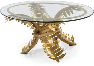 One Kings Lane Amanda Nisbet For Palm Oval Coffee Table - Gold