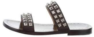 Christian Louboutin Stud-Embellished Slide Sandals