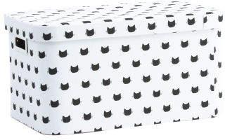 Small Kitty Lidded Storage Bin