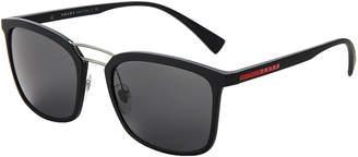 Prada Sport SPS 03S Black Navigator Sunglasses