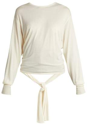 Esteban Cortazar Split Back Wool And Silk Blend Sweater - Womens - Ivory