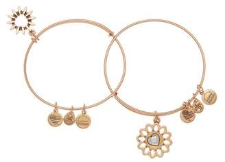 Alex and Ani Two-Tone You Are My Heart Expandable Wire Bracelet Set