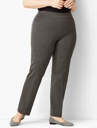 Talbots Plus Size Refined Bi-Stretch Pull-On Straight Leg Pant