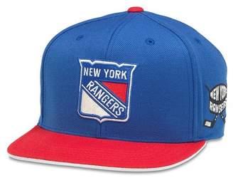 American Needle NHL New York Rangers Flat Brim Baseball Cap