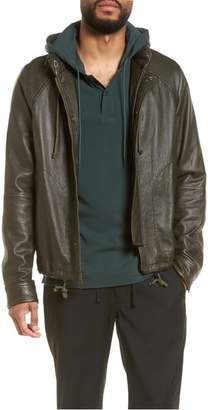 Vince Slim Fit Lambskin Leather Parka