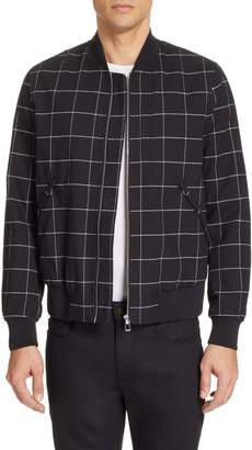 Paul Smith Grid Wool Blend Bomber Jacket