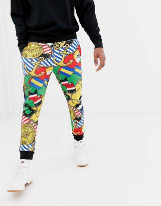 Love Moschino all over print joggers