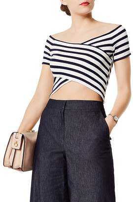 Karen Millen Striped Cropped Top