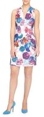 Catherine Malandrino Tinka Graphic Floral Sheath Dress