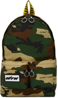 Off-White Multicolor Camouflage Backpack