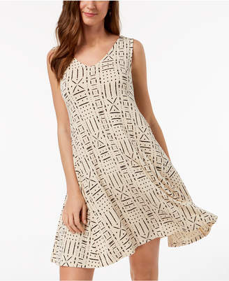Style&Co. Style & Co Printed V-Neck A-Line Dress, Created for Macy's