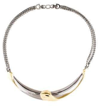Christian Dior Two-Tone Collar Necklace