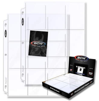 Asstd National Brand Bcw 9-Pocket Plastic Sheets- 100 Pack