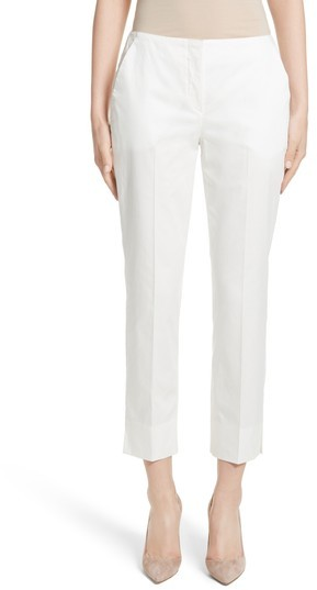 Women's Armani Collezioni Stretch Cotton Ankle Pants